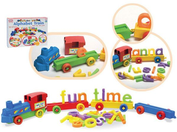 A to Z (Funtime) Push Along Alphabet Train With Letters