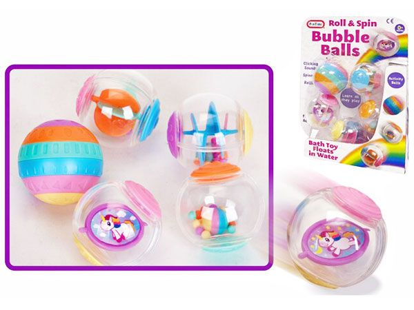 A to Z (Funtime) Unicorn Roll & Spin Bubble Balls