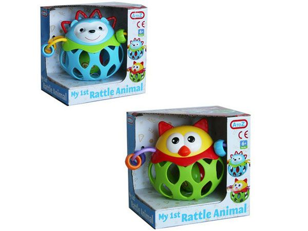 A To Z (Funtime) My 1st Animal Rattle, ASSORTED