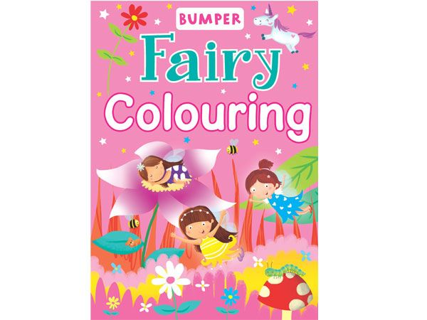 Bumper - Fairy Colouring Book A4, by Brown Watson